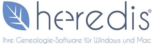 Heredis - Partner der Genealogica | Logo: Heredis